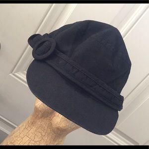 Peter Grimm Newsboy Buckle Cap Black Adorable
